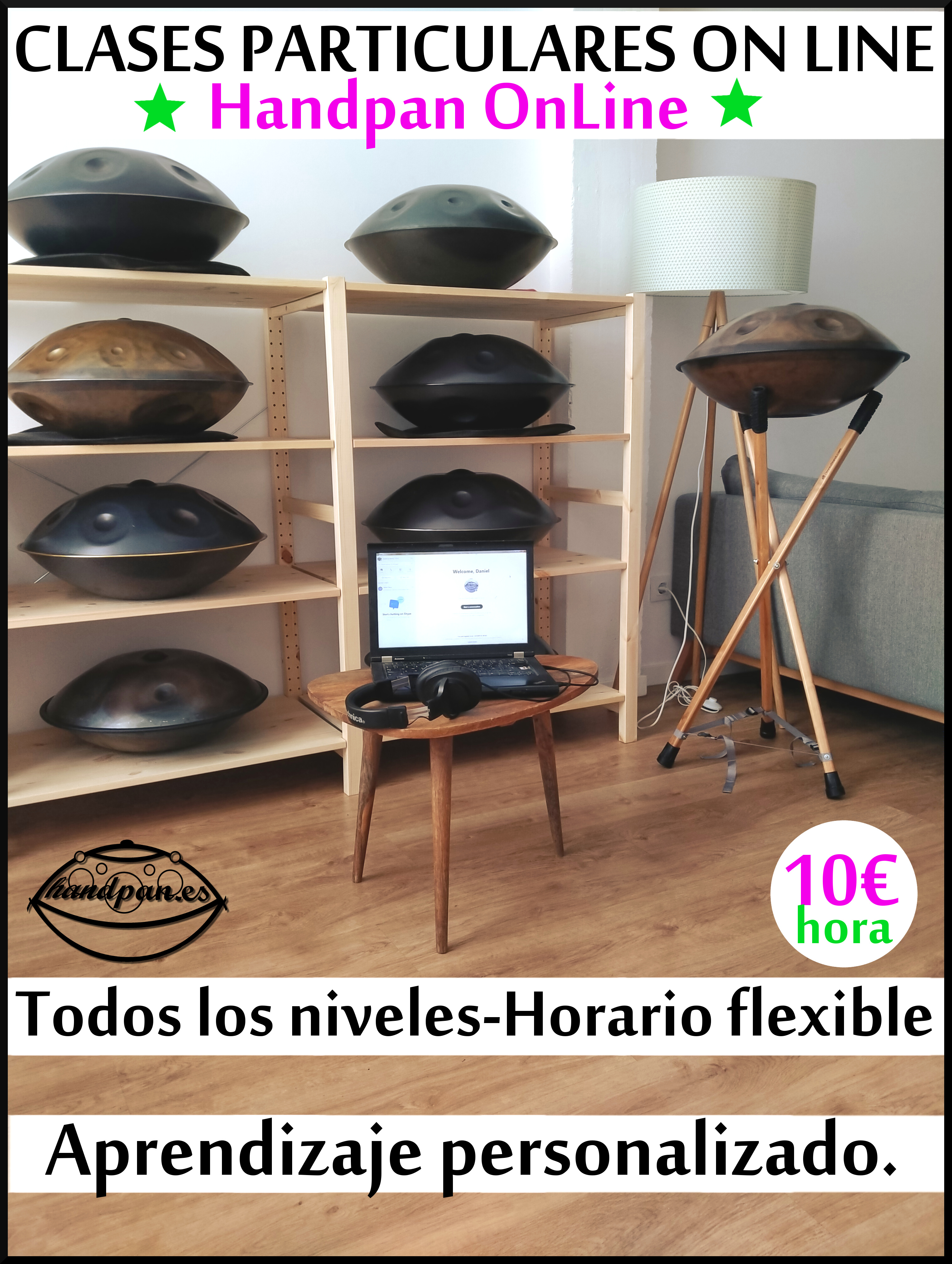 Clases particulares de Handpan on line