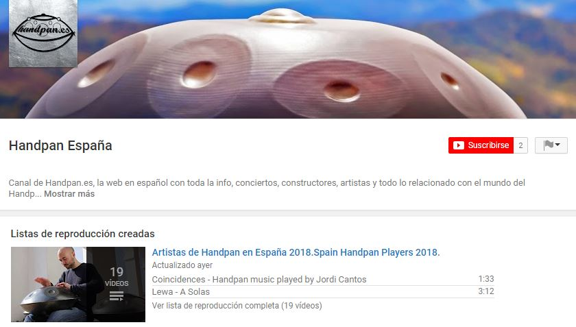Canal Youtube Handpan.es